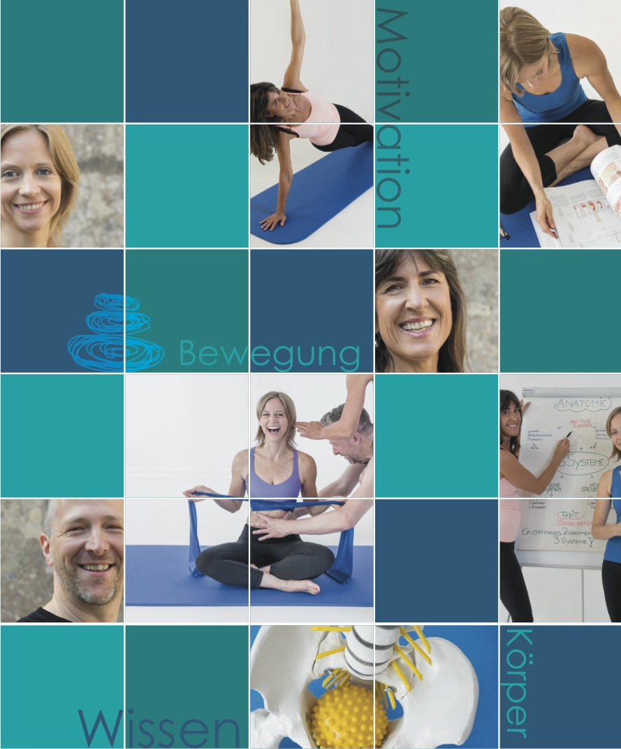 Collage ARGE PILATES WEST Ausbildung